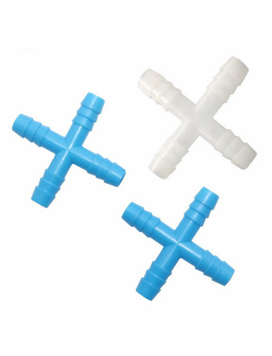 Cross Connectors, Polypropylene -  Science Lab Equipment | Science Equip Australia