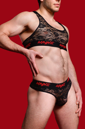 Wayne Lace Thong Set