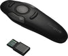 Wireless USB Presenter with Laser Pointer (Black)