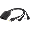 3-Pin 3-Way Hydra DC Power Cable (Black)