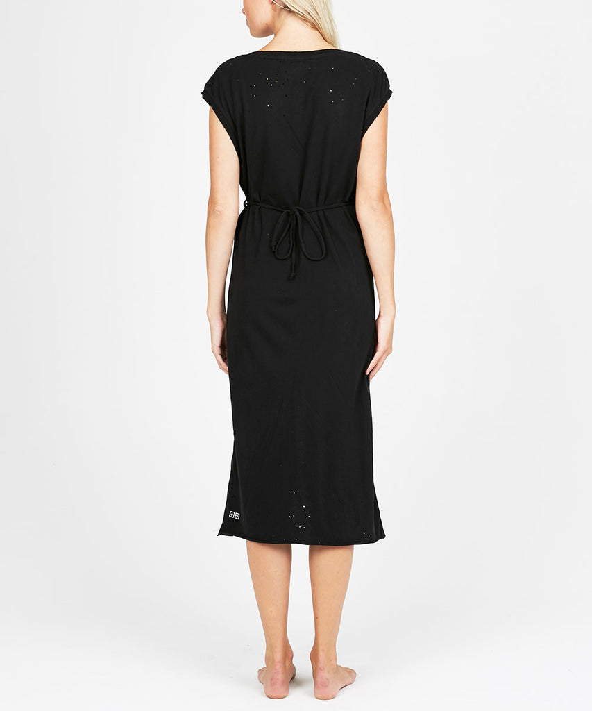 COLD SHOULDER DRESS BLACK
