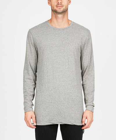 SEEING LINES LONG SLEEVE T-SHIRT GREY MARLE
