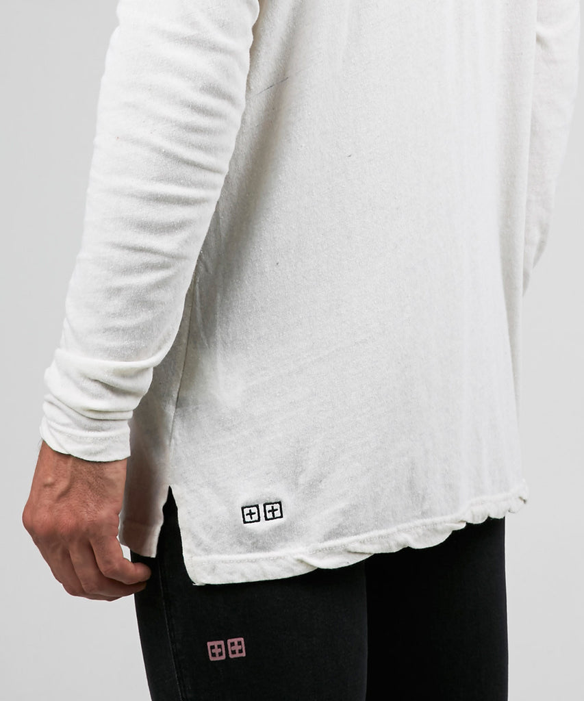 VICES NEP LONG SLEEVE T-SHIRT WHITE