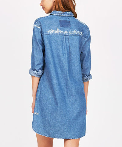STRANDED SHIRT DRESS ATOMIC