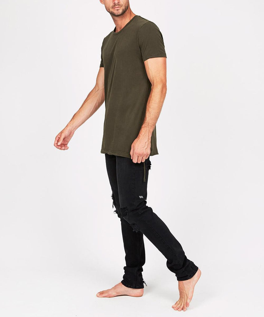 Seeing Lines Short Sleeve T-Shirt Deep Army