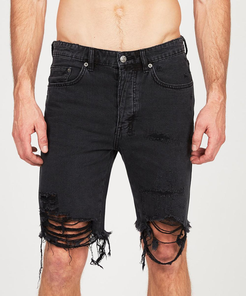 AXEL SHORT BLACK CROW TRASHED