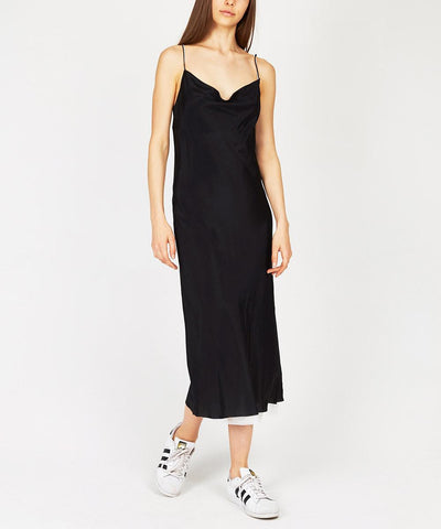 SAY ANYTHING SLIP DRESS BLACK