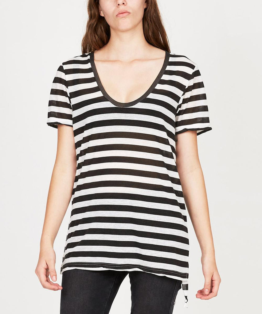 TAINTED HEART STRIPE T-SHIRT
