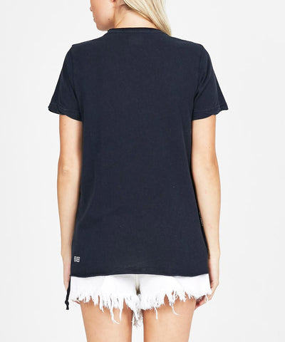 TAINTED HEART SPECKLE T-SHIRT NAVY
