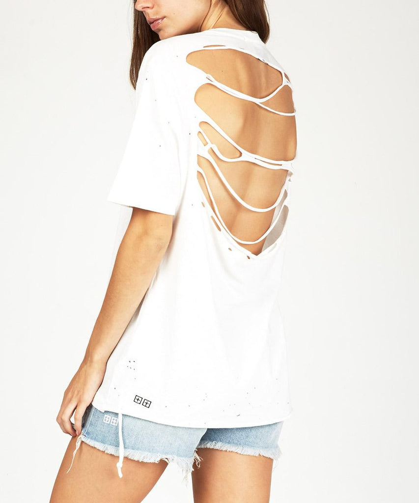 BACK OFF T-SHIRT WHITE
