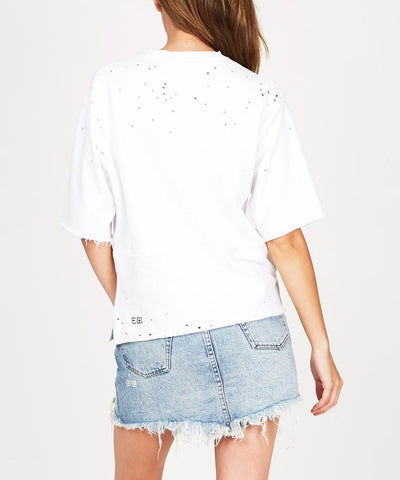 CRUSH CUT OFF TOP