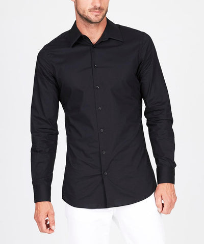 JAGGER POPLIN SHIRT BLACK