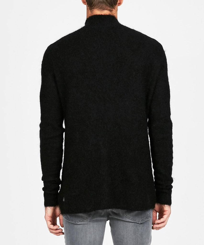 INTERPOL KNIT HIGH NECK BLACK