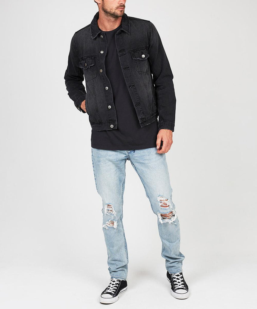 CLASSIC JACKET BEATEN UP BLACK