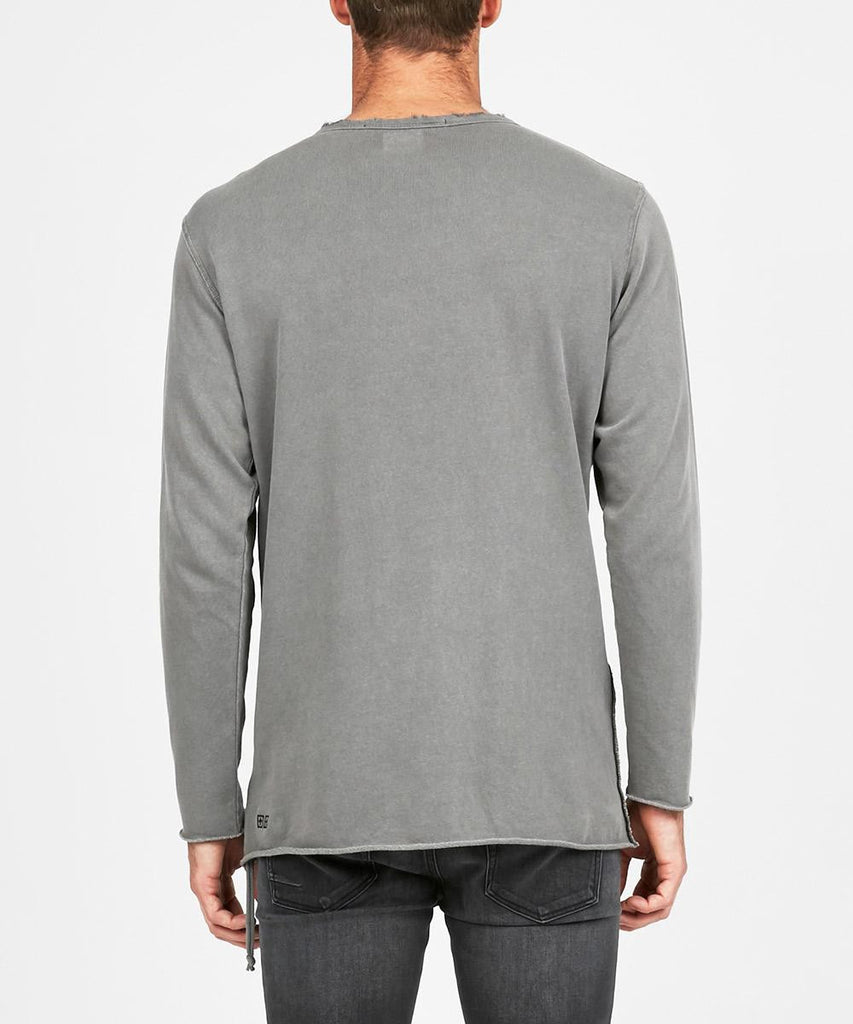 VOLTA LONG SLEEVE SWEAT WASHED GREY