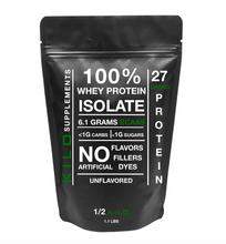 Load image into Gallery viewer, 100% Whey Protein Isolate 1/2 KILO (.500g/1.1lbs)