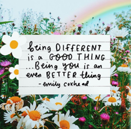 Being different is a good thing artwork by emily coxhead