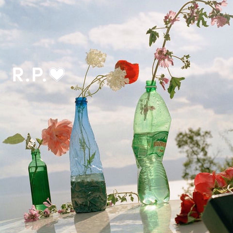 bottles upcycled as vases