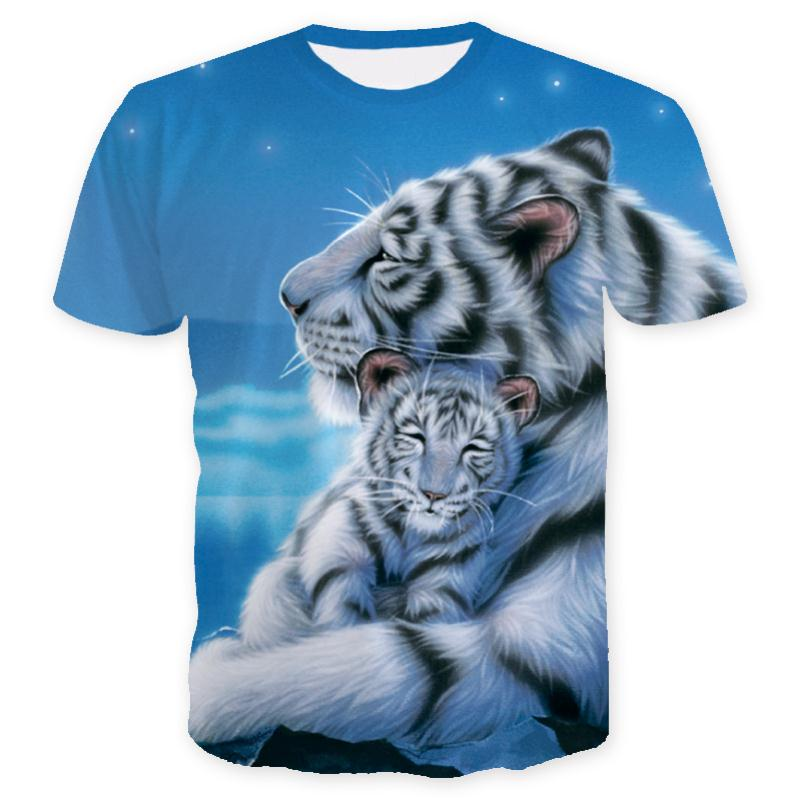 3D Full Print T-Shirt - Siberian tiger and cub