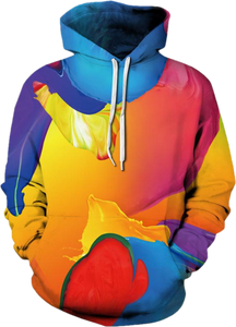 3D Full print hoodie - paint splash