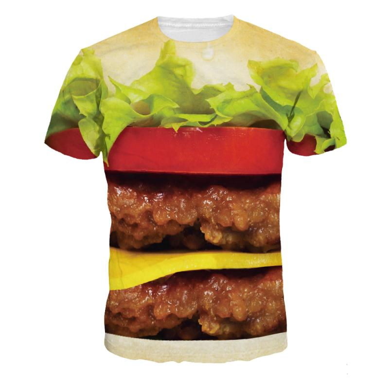 3D Full Print T-Shirt - Hamburger