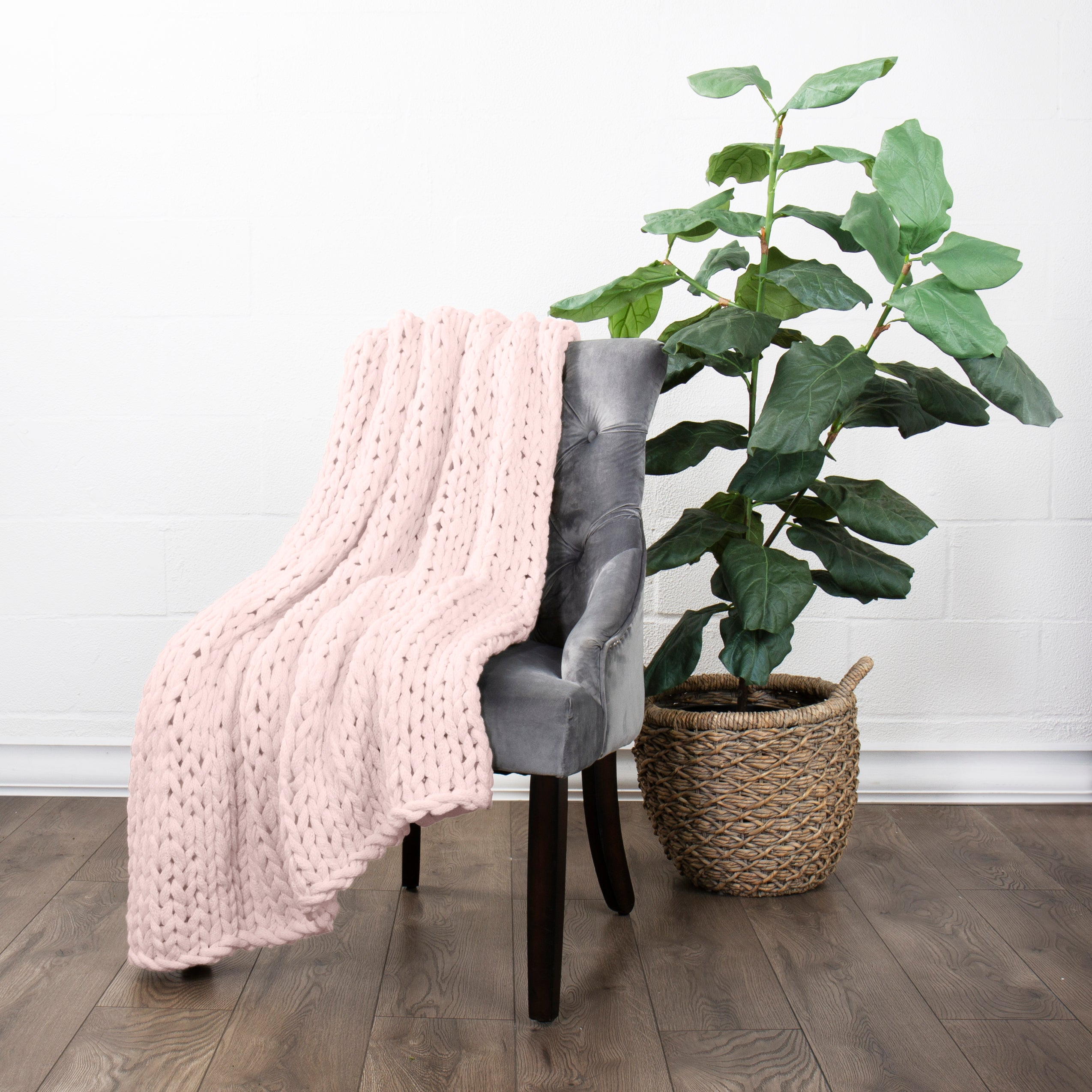 shopify-Chunky Knit Throw Blanket-2