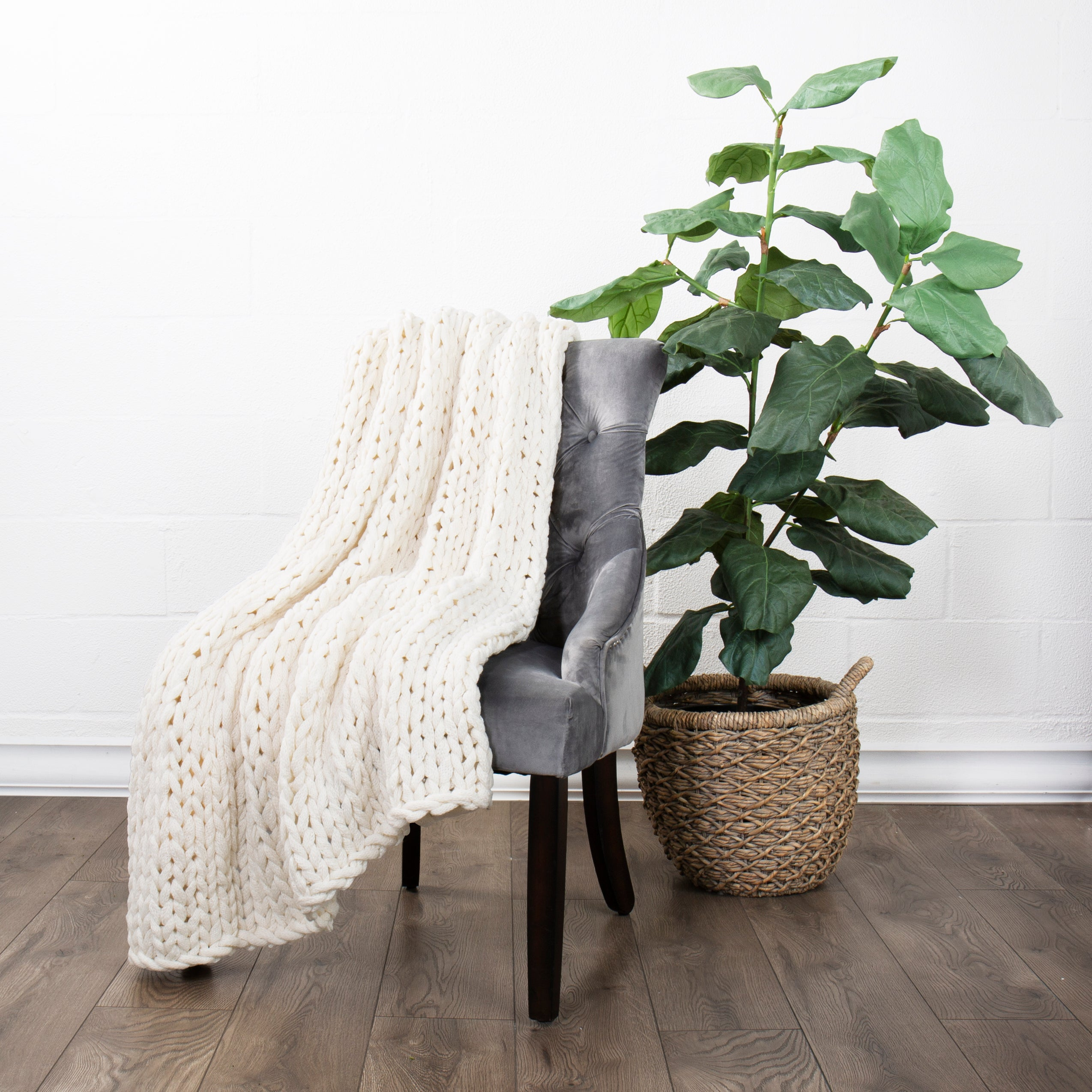 shopify-Chunky Knit Throw Blanket-3