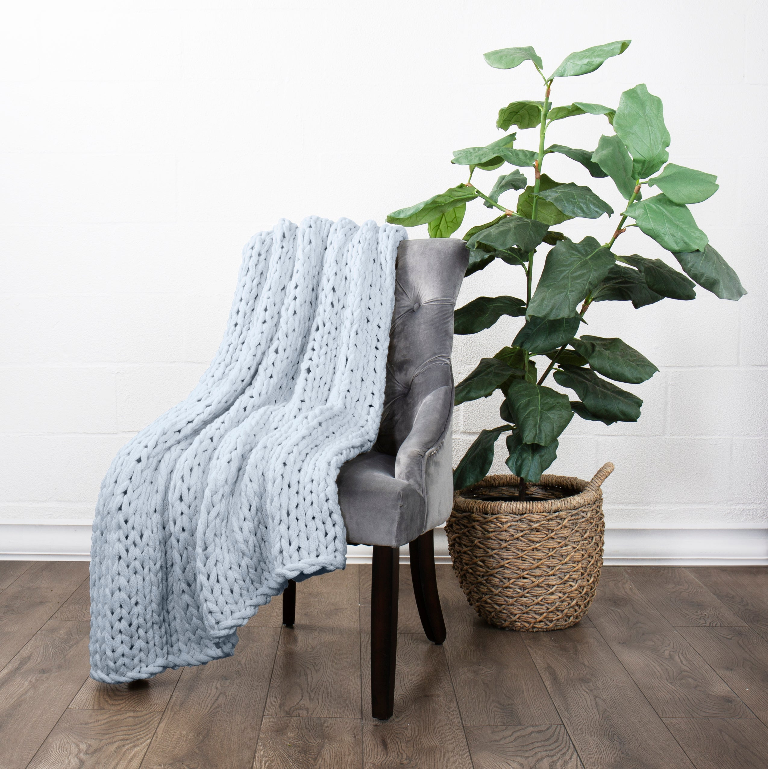 shopify-Chunky Knit Throw Blanket-4