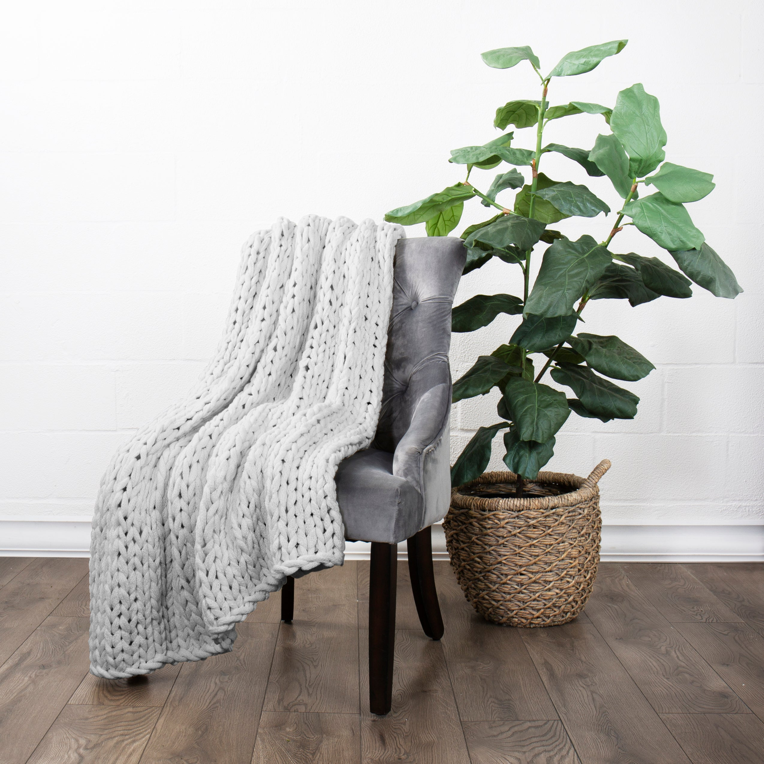 shopify-Chunky Knit Throw Blanket-5