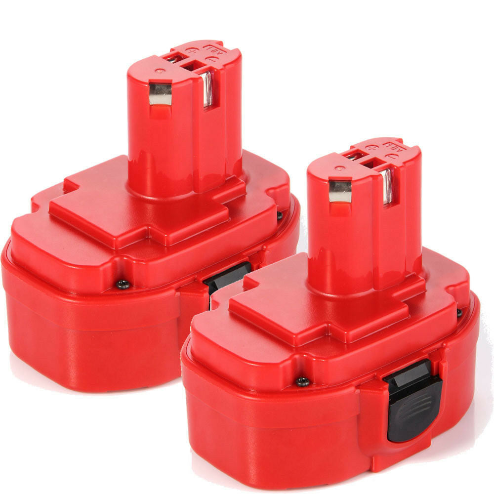For Makita Battery Replacement | 1822 18V 3000mAh Ni-MH Battery 2 Pack