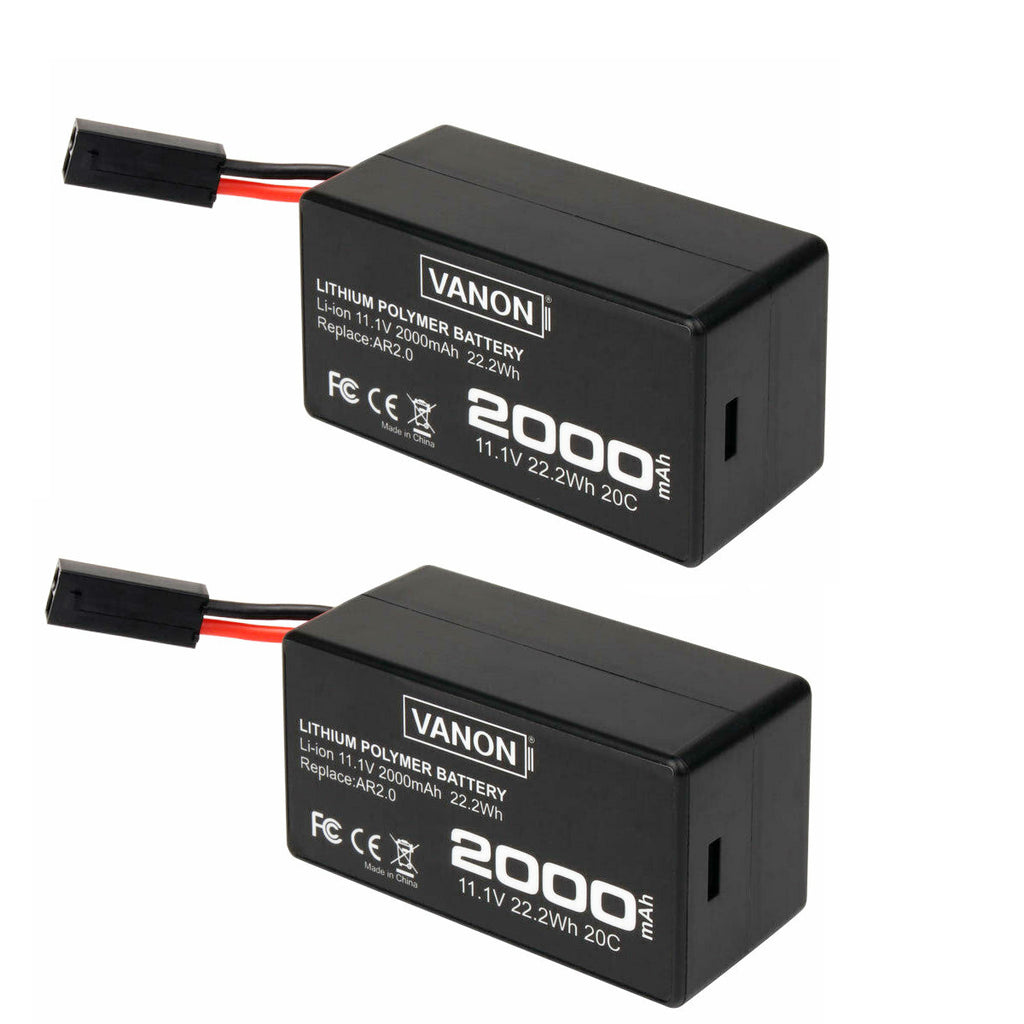 For Parrot AR.Drone 2.0 11.1v Replacement | 2.0Ah Li-ion Battery 2 Pack
