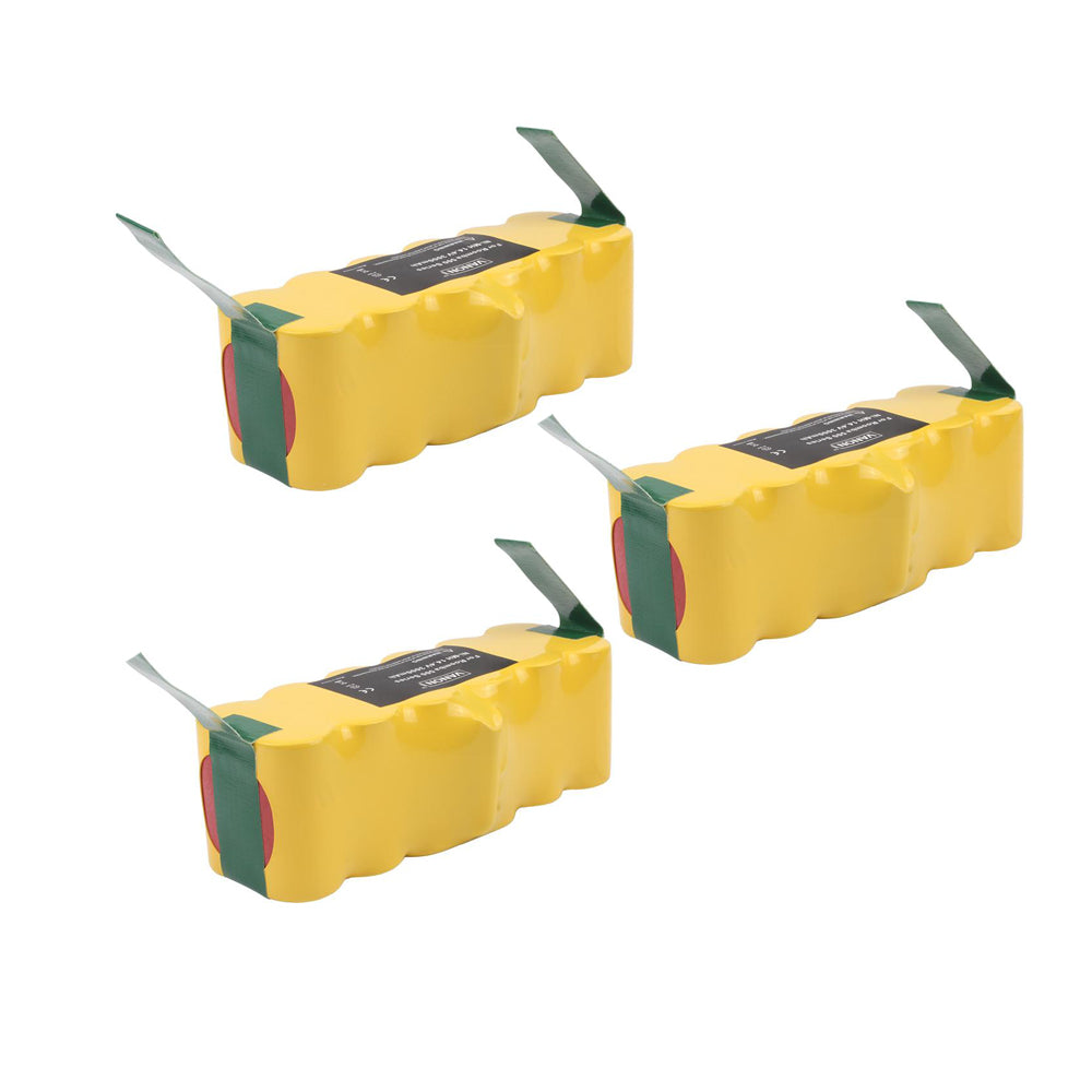 For iRobot Roomba 14.4V Vacuum Battery | 4500mAh NI-MH | 3 Pack