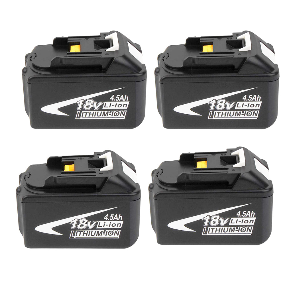 For Makita 18V BL1845 Battery | 4.5Ah Lithium-Ion Battery Replacement | 4 Pack