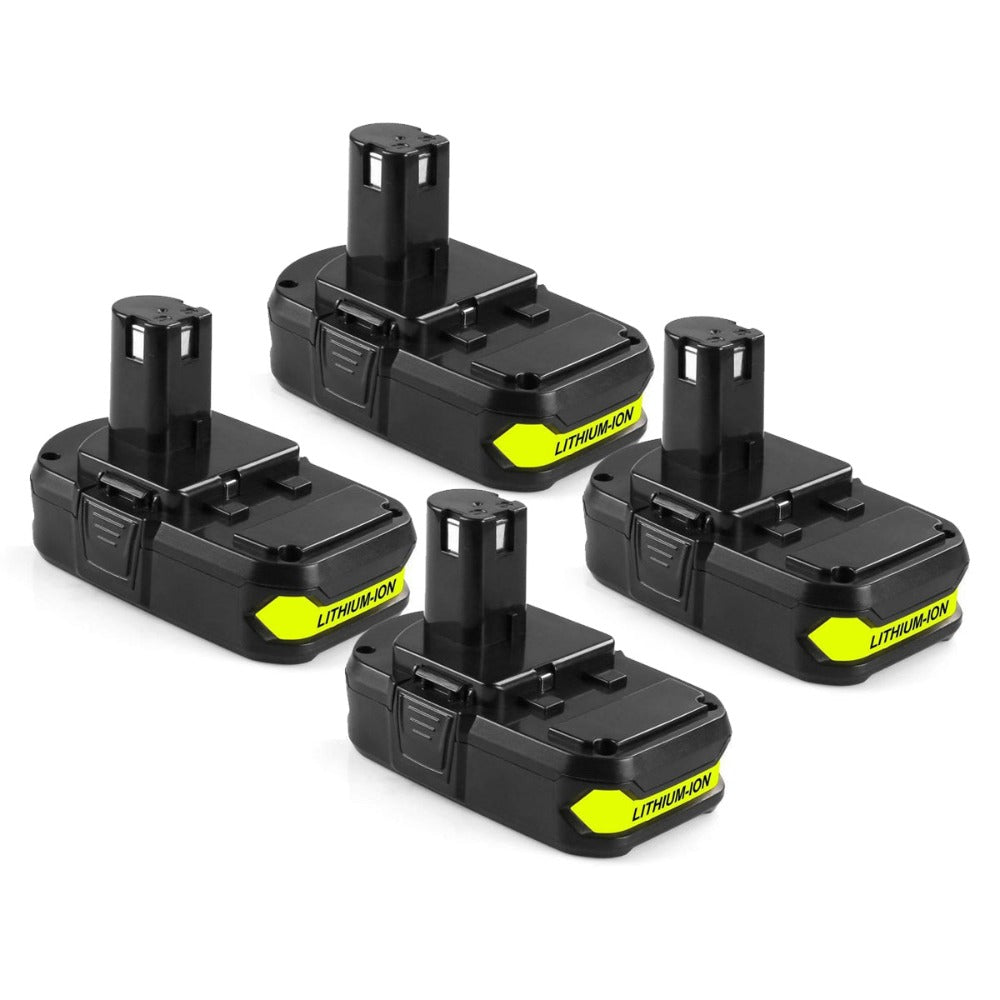 For Ryobi 18V Battery Replacement | P102 2.0Ah Li-ion Battery 4 Pack