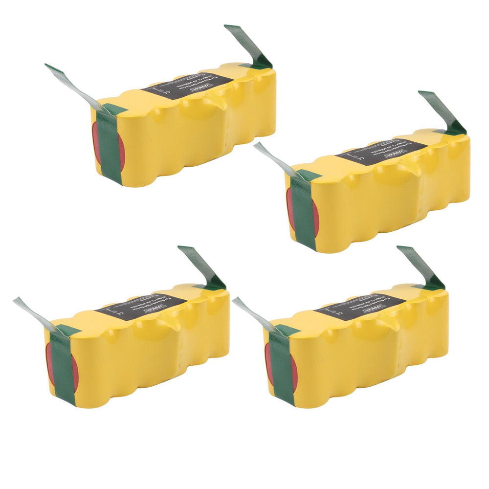 For iRobot Roomba 14.4V Vacuum Battery | 4500mAh NI-MH | 4 Pack