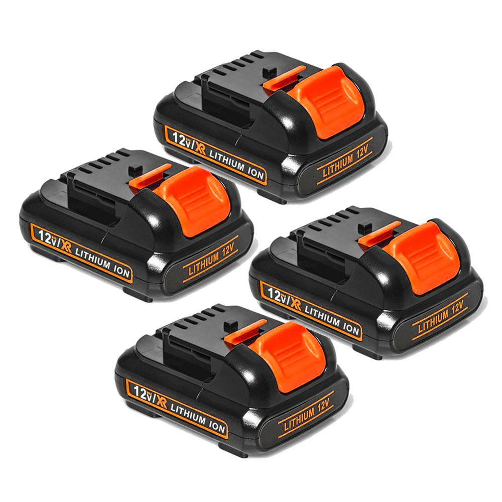 Dewalt 12V Battery Replacement | DCB120 DCB121 3.0Ah Li-ion Battery 4 Pack | left