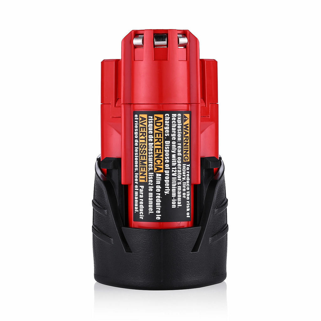 For Milwaukee 12V 2.5Ah Battery Replacement | 48-11-2411 (4 Pack)