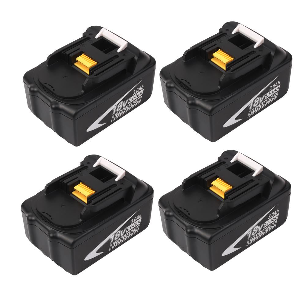 For Makita 18V BL1830 Battery | 3.0Ah Lithium-Ion Replacement 4-PACK Batteries