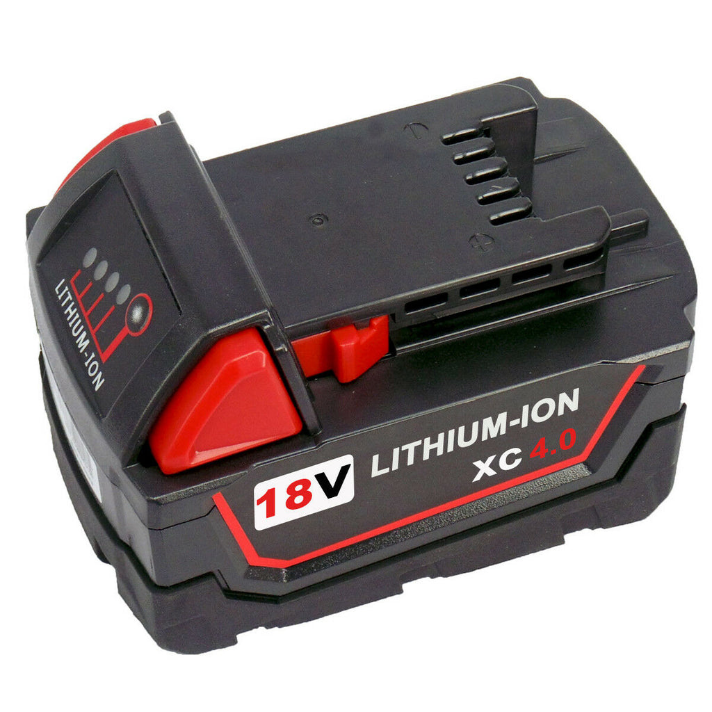 For Milwaukee 18V M18 4.0Ah Battery & For Milwaukee 12V-18V Lithium Battery Charger