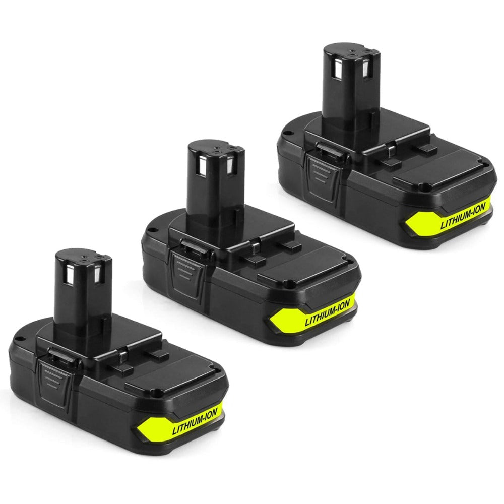 For Ryobi 18V Battery Replacement | P102 2.0Ah Li-ion Battery 3 Pack