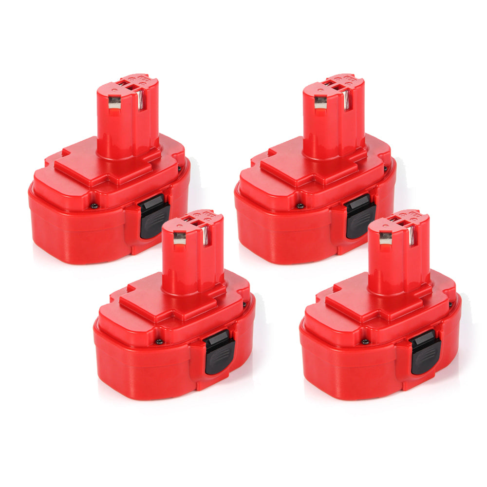 For Makita Battery Replacement | 1822 18V 3000mAh Ni-MH Battery 4 Pack