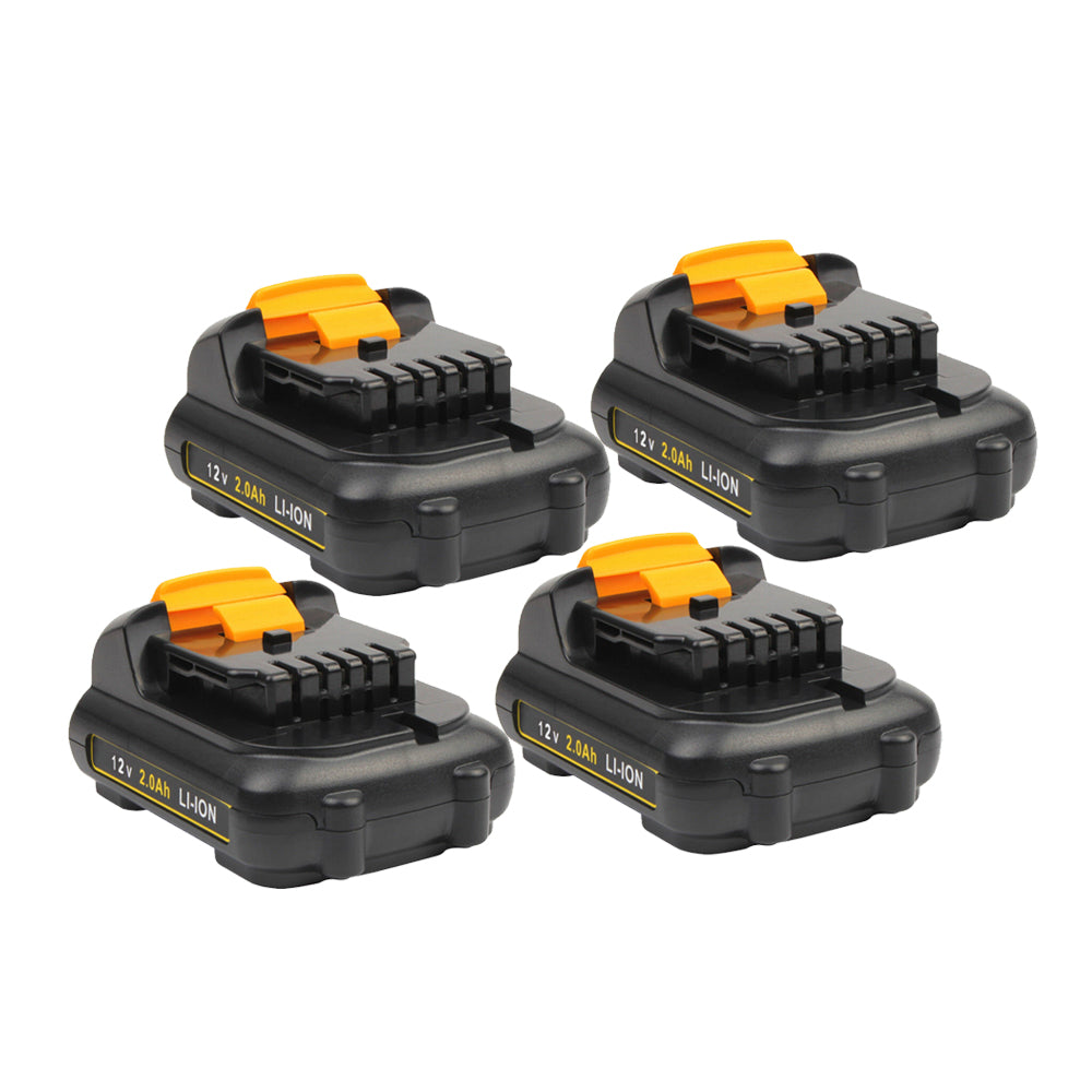 For Dewalt 12V Battery Replacement | DCB120 2.0Ah Li-ion Battery 4 Pack
