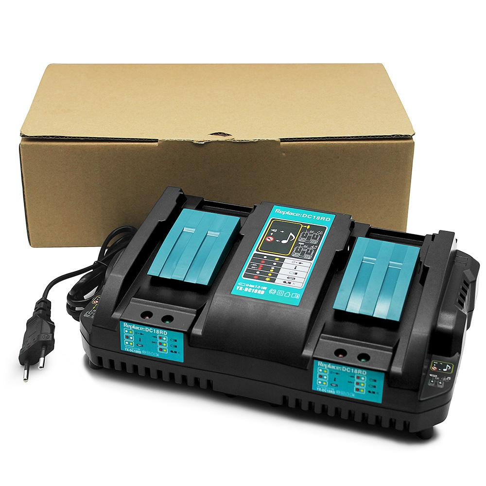 For Makita 18V DC18RD Rapid Charger | Dual Port Lithium-Ion Battery Charger | 5