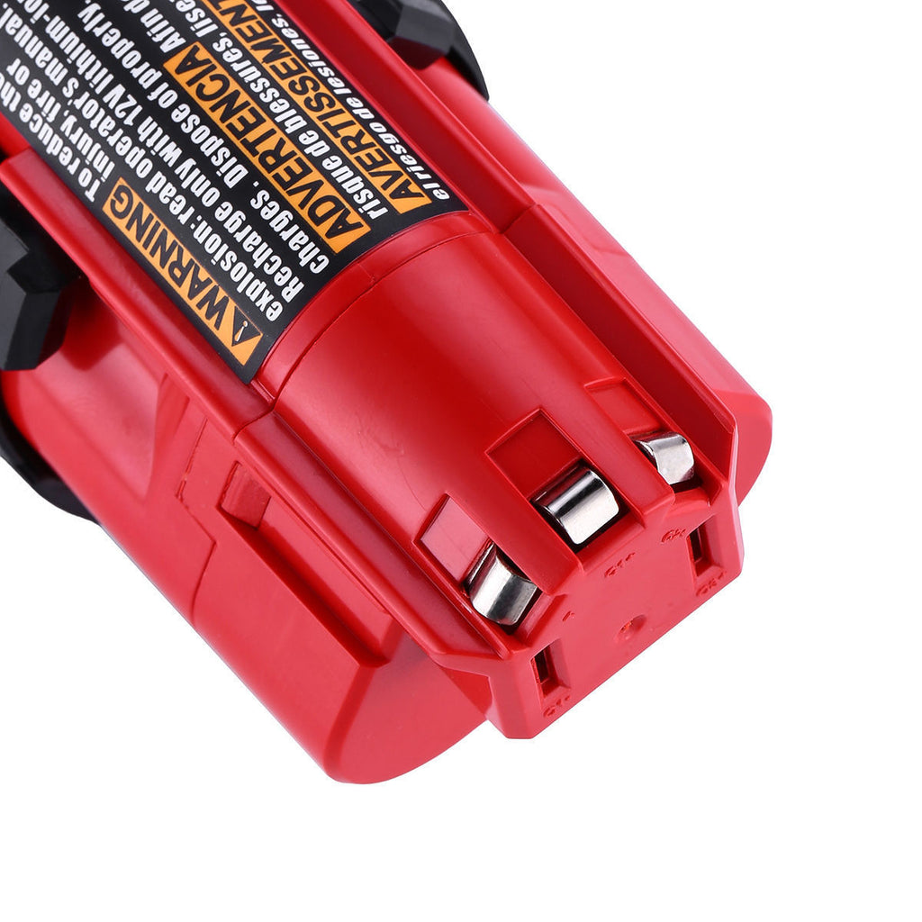 Milwaukee 12V | Milwaukee 12V 2.5Ah Battery | 12V 2.5Ah Battery | Milwaukee 12V 2.5Ah Battery Replacement | 48-11-2411 48-11-2420 48-11-2401 | front