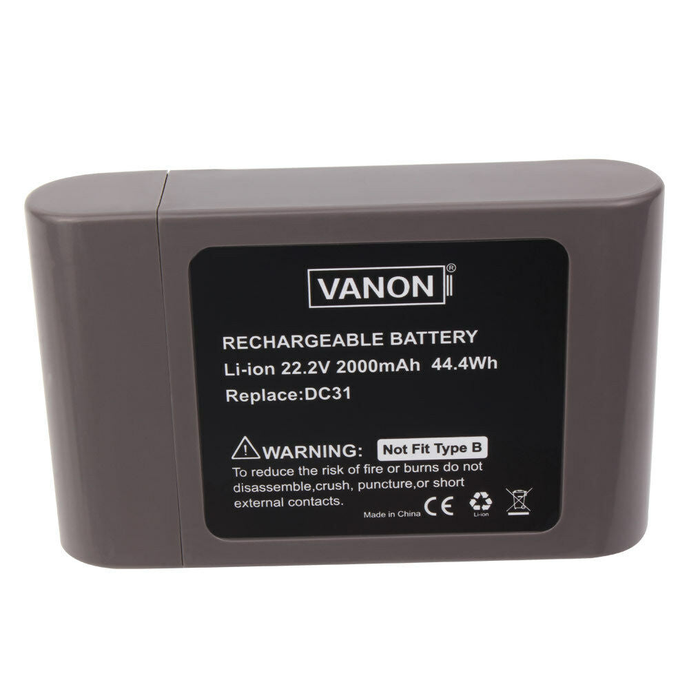 For Dyson 22.2V Battery Replacement | DC31 2.0Ah Li-ion Vacuum Battery