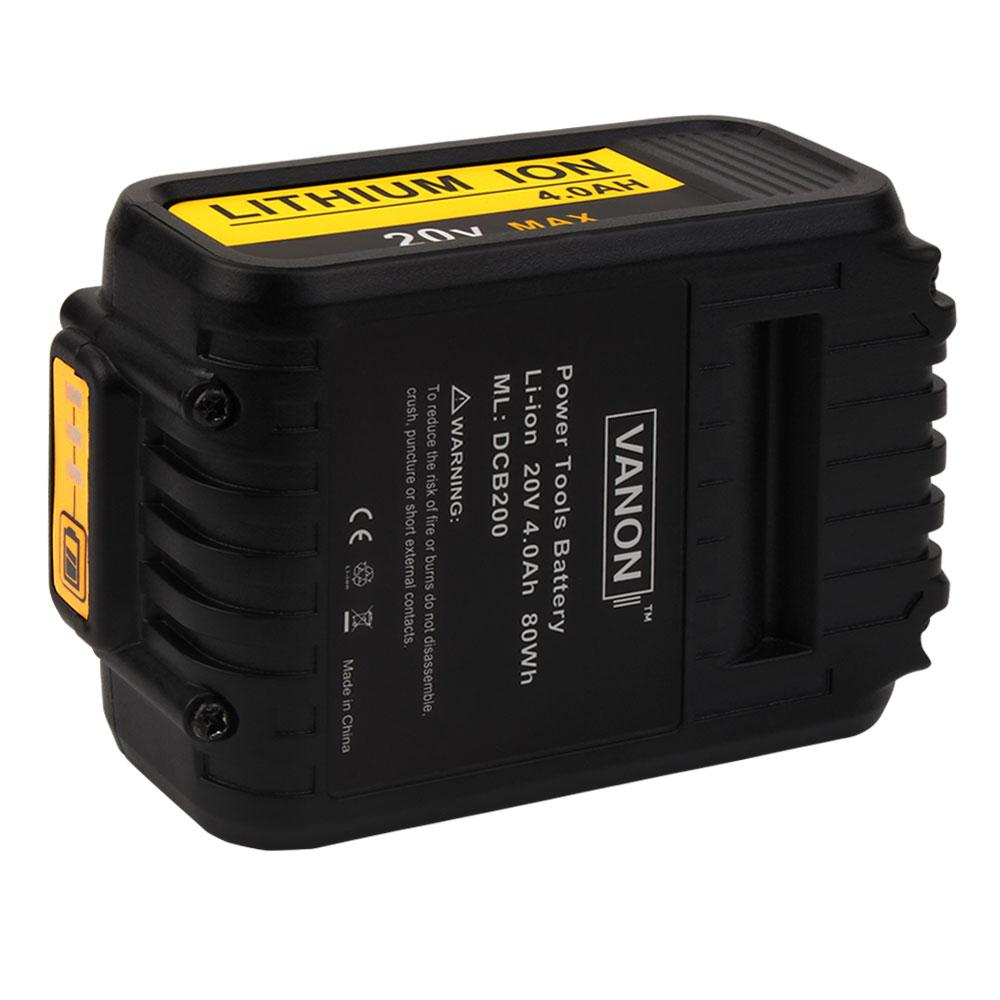 For Dewalt 20V Battery Replacement | DCB200 4500mAh Li-ion Battery | 4
