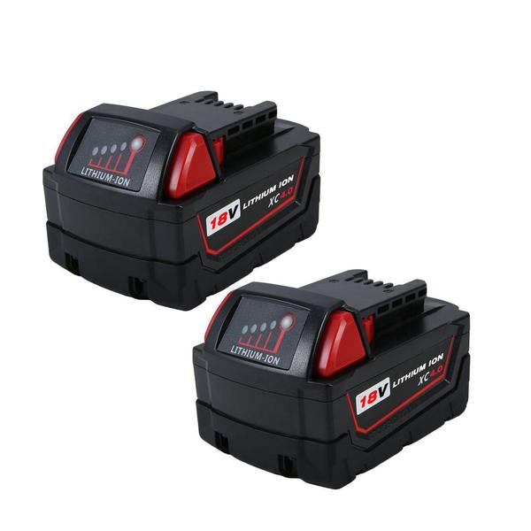 Milwaukee 18V | M18 Battery | Milwaukee 18V M18 Battery | 4.0Ah Lithium-Ion Replacement Battery | two