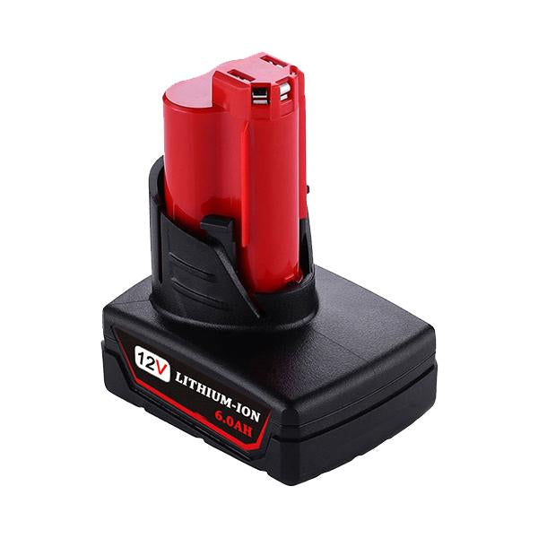 Milwaukee 12V | 12V Battery | Milwaukee 12V Battery Replacement | M12 6.0Ah Li-ion Battery | right