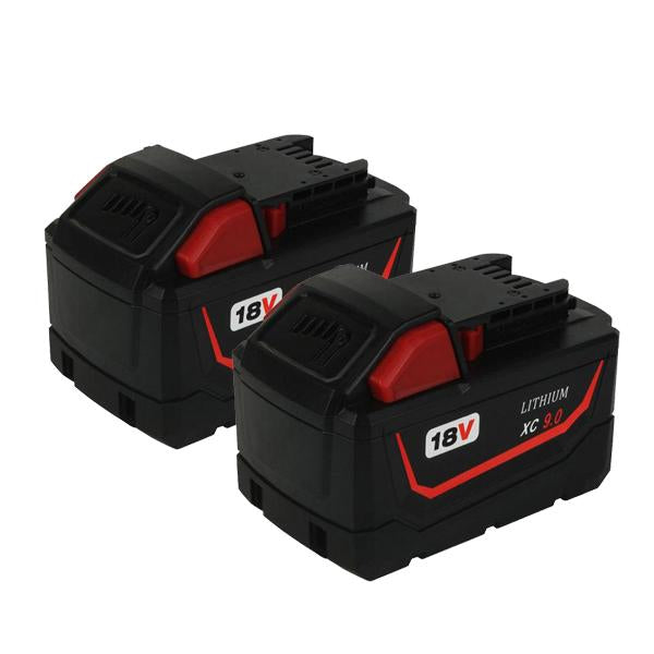 Milwaukee M18 |  M18 18V | Milwaukee M18 18V XC 9.0Ah Battery Replacement Li-Ion | two