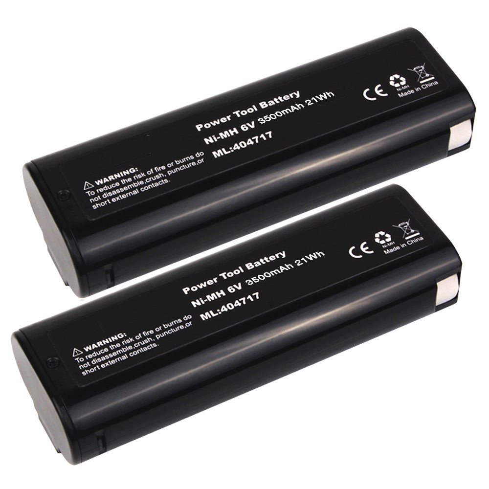 2 Pack For 6V OEM Paslode Battery Replacement | 404717 3500mAh Ni-MH Battery